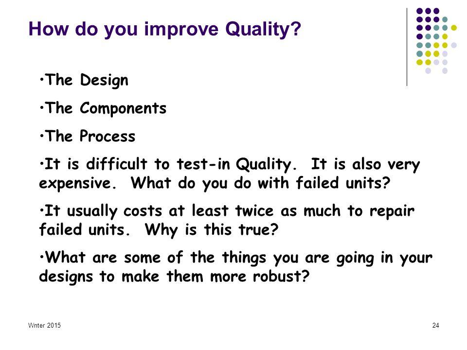 Wnter 201524 How do you improve Quality.