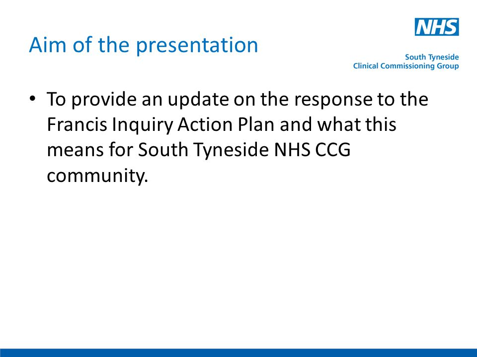 Findings from the first inquiry (published February 2010) Lack of basic care across a number of wards and departments Trust culture was not conducive to providing good care or a supportive environment for staff Too high a priority on targets Consultant body disassociated itself from management Acceptance of poor standards Management and Board thinking dominated by financial targets Absence of effective governance Lack or urgency to Board response to problems Statistics and reports preferred to patient experience Focus on systems and not outcomes Lack of internal and external transparency