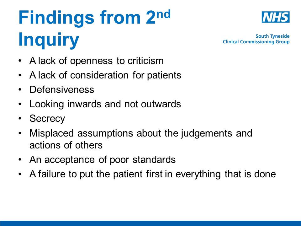 Key Recommendations Governance and trust boards Monitor and authorisation of Foundation Trusts New fundamental and enhanced standards of quality Duty of candour, complaints and clinical risk Enhancements to provision of information, inspection and monitoring Workforce issues Commissioning for quality Role for regulators