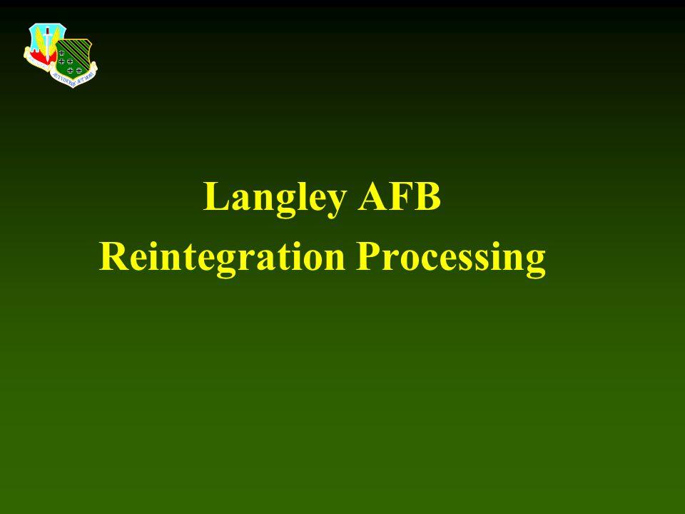 Langley AFB Reintegration Processing