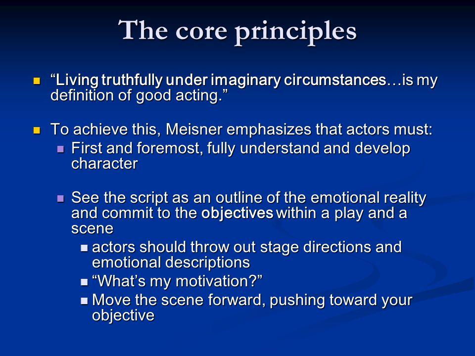 The core principles, cont.