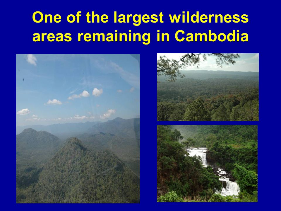 One of the largest wilderness areas remaining in Cambodia