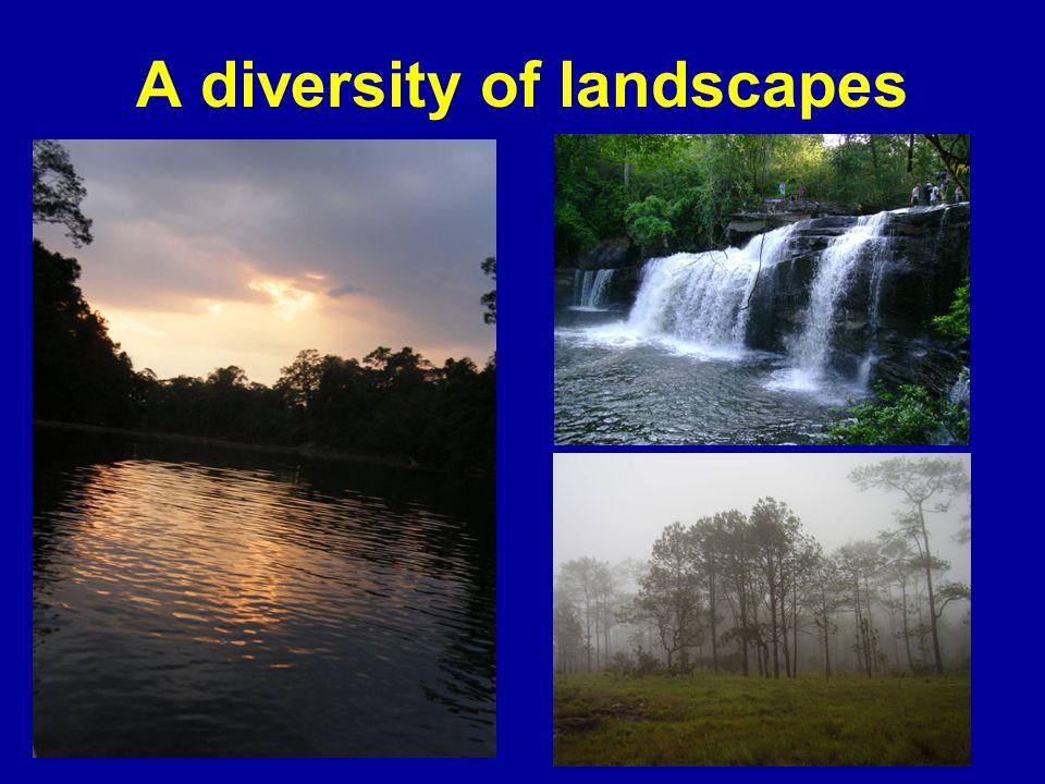 A diversity of landscapes