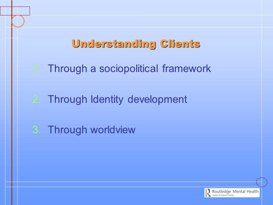 Understanding Clients Understanding Clients 1.1.Through a sociopolitical framework 2.