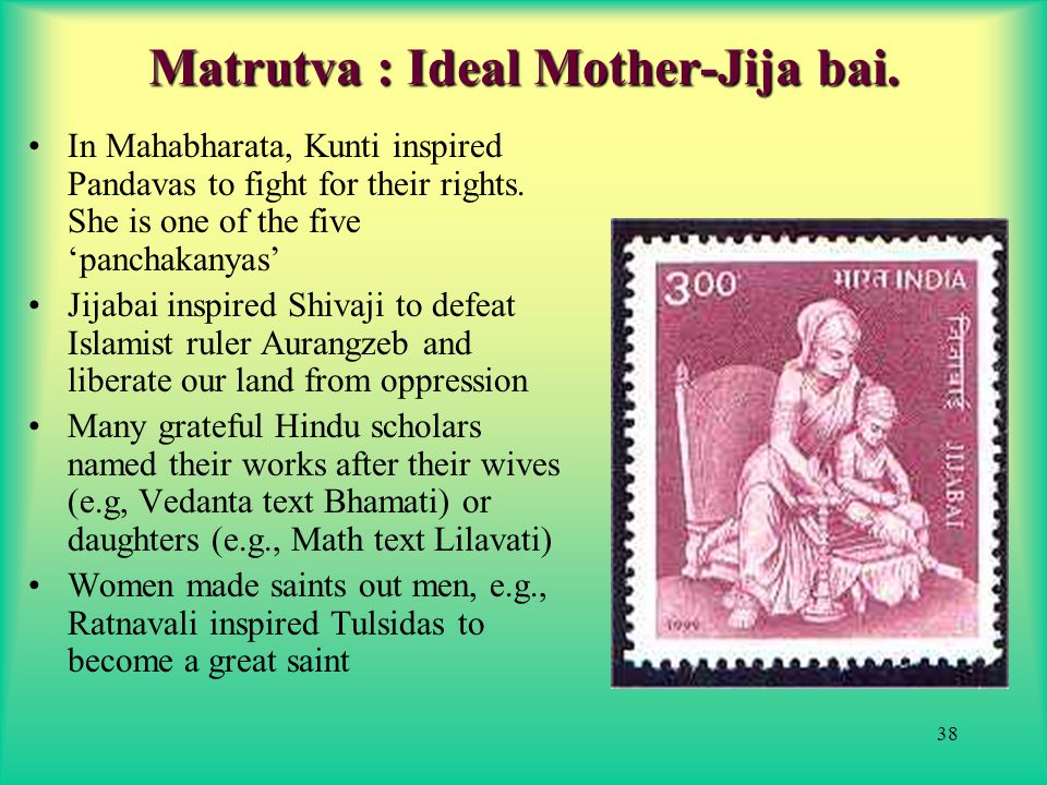 38 Matrutva : Ideal Mother-Jija bai.
