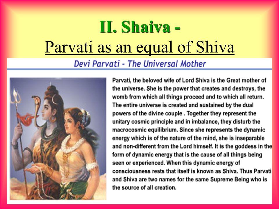 9 II. Shaiva - II. Shaiva - Parvati as an equal of Shiva