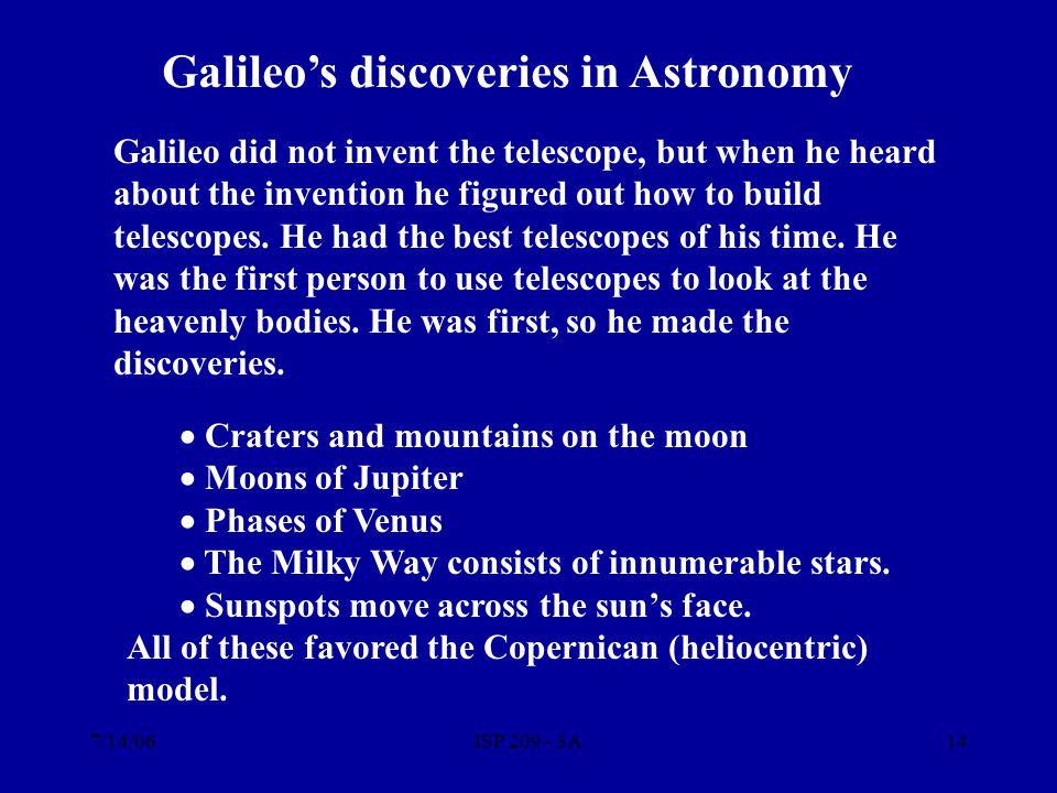 7/14/06ISP 209 - 3A13 Galileo Galilei