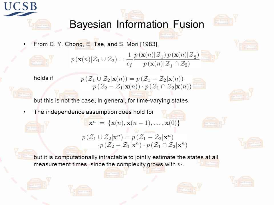 Bayesian Information Fusion From C. Y. Chong, E.