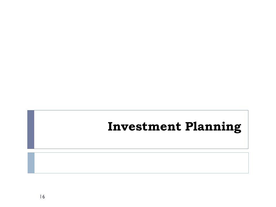 Investment Planning 16