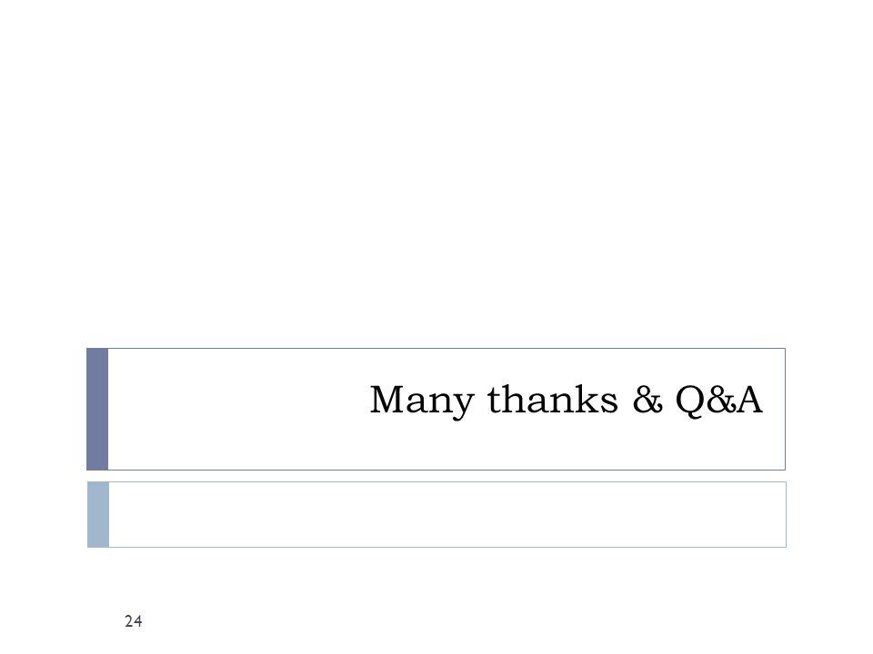 Many thanks & Q&A 24