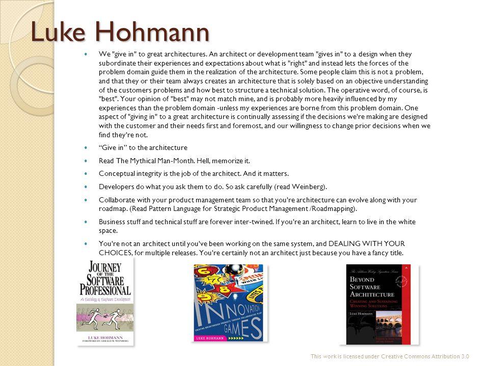 Luke Hohmann We