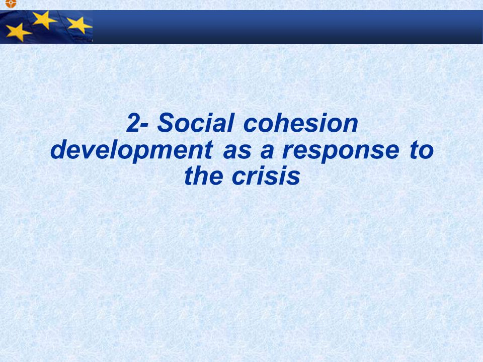 2- Social cohesion development as a response to the crisis