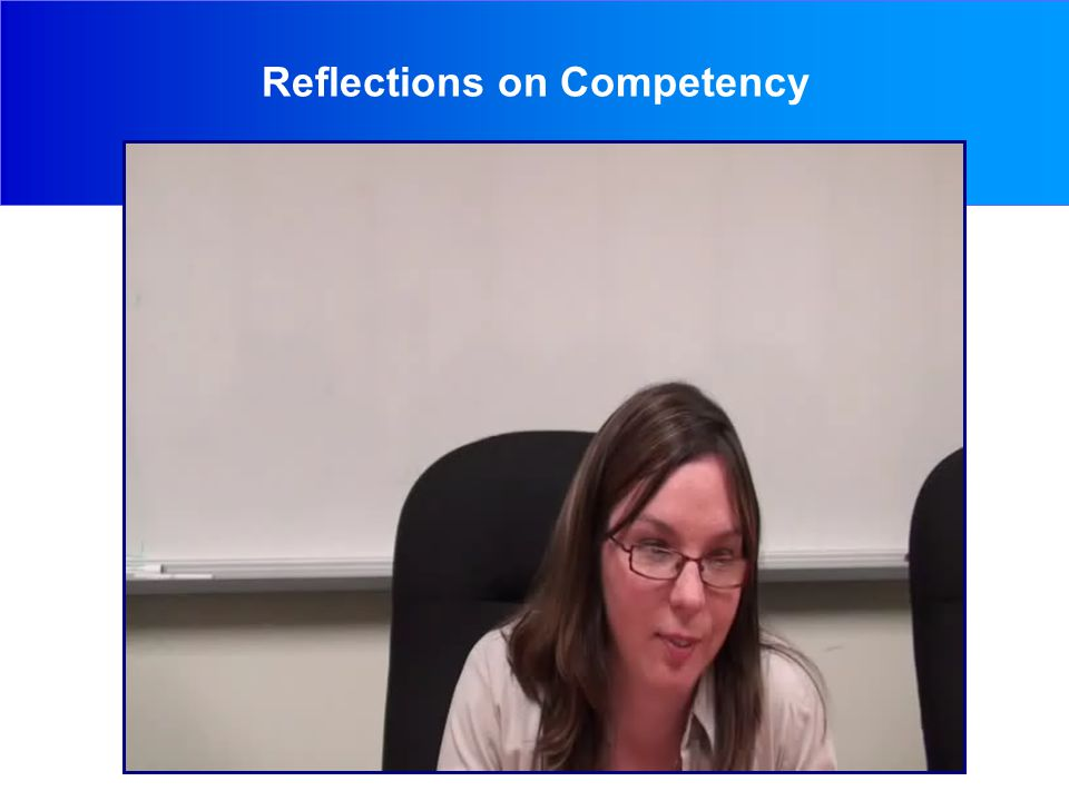 Reflections on Competency