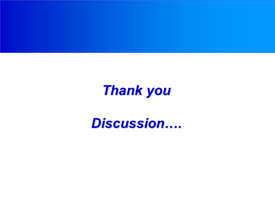 Thank you Discussion….