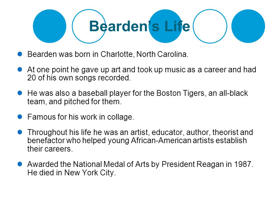 Bearden's Life Bearden was born in Charlotte, North Carolina.