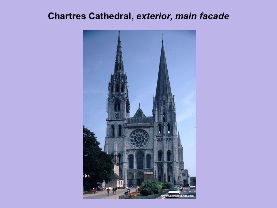 Chartres Cathedral, exterior, main facade