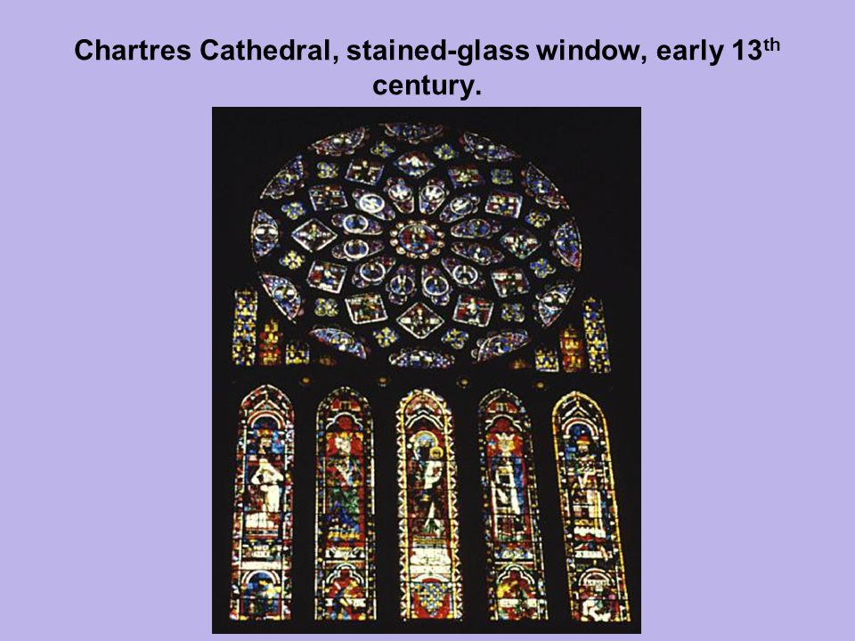 Chartres Cathedral, stained-glass window, early 13 th century.
