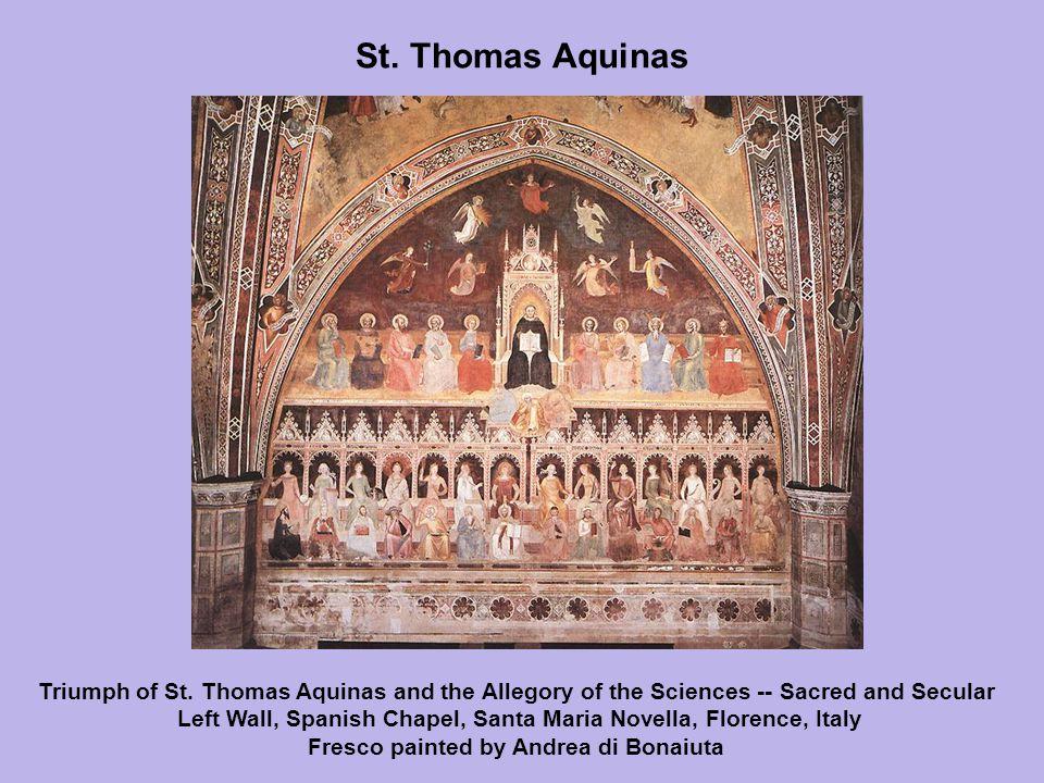 St. Thomas Aquinas Triumph of St.