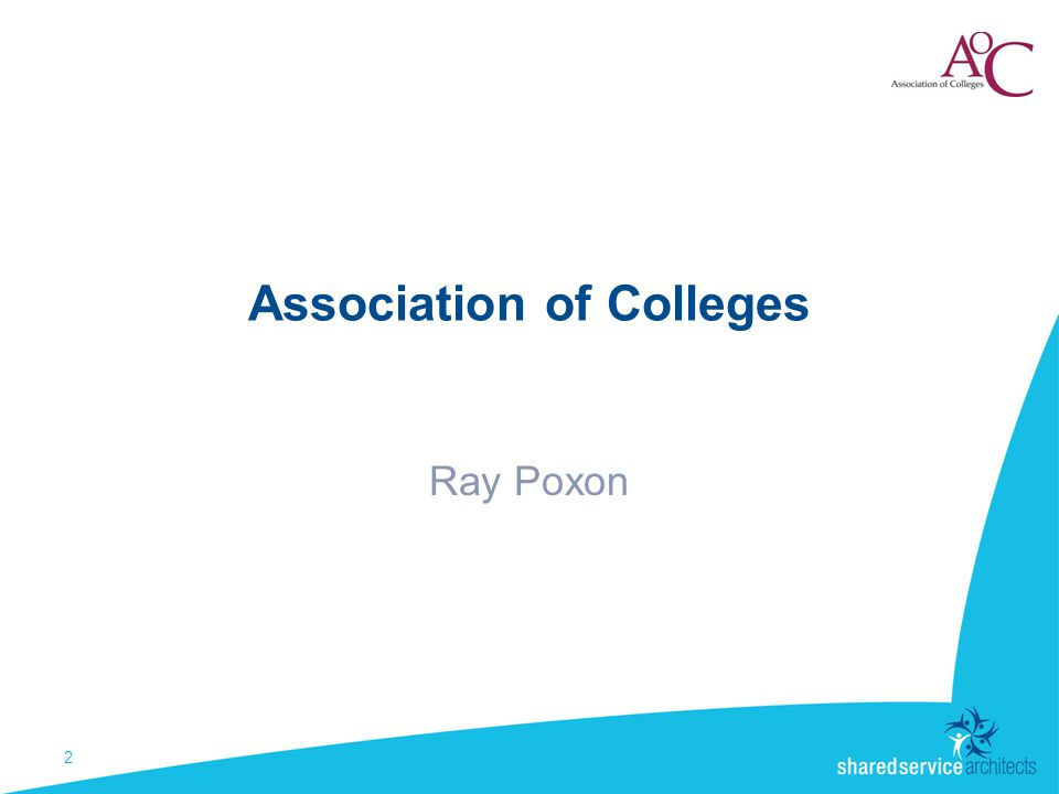Association of Colleges Ray Poxon 2