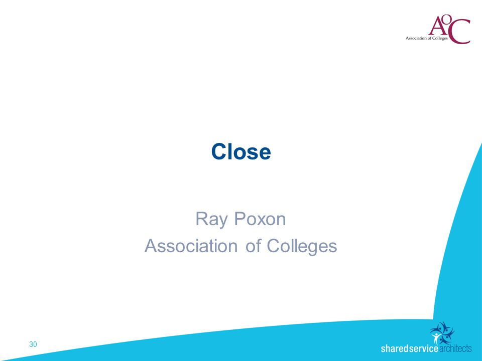 Close Ray Poxon Association of Colleges 30