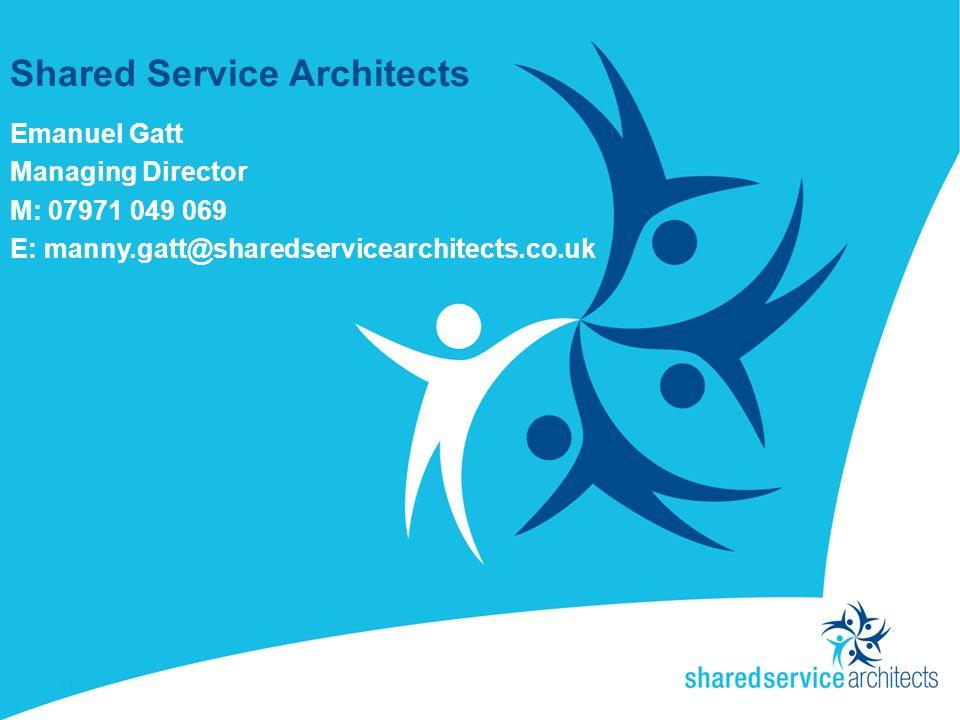 Shared Service Architects Emanuel Gatt Managing Director M: 07971 049 069 E: manny.gatt@sharedservicearchitects.co.uk 31