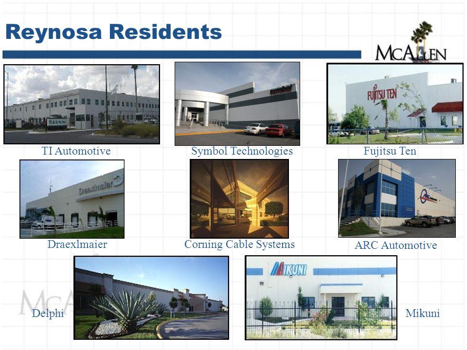 Reynosa Residents TI Automotive MikuniDelphi Corning Cable Systems Fujitsu TenSymbol Technologies ARC Automotive Draexlmaier