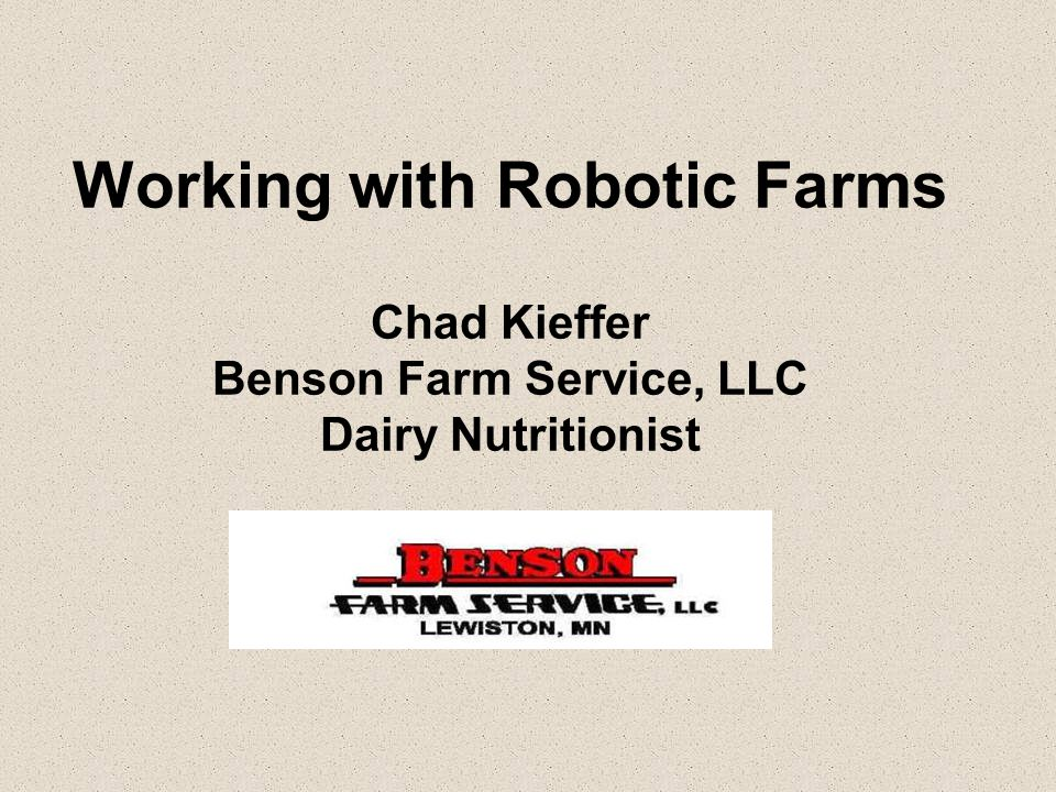 Pic of farm and pic of robots