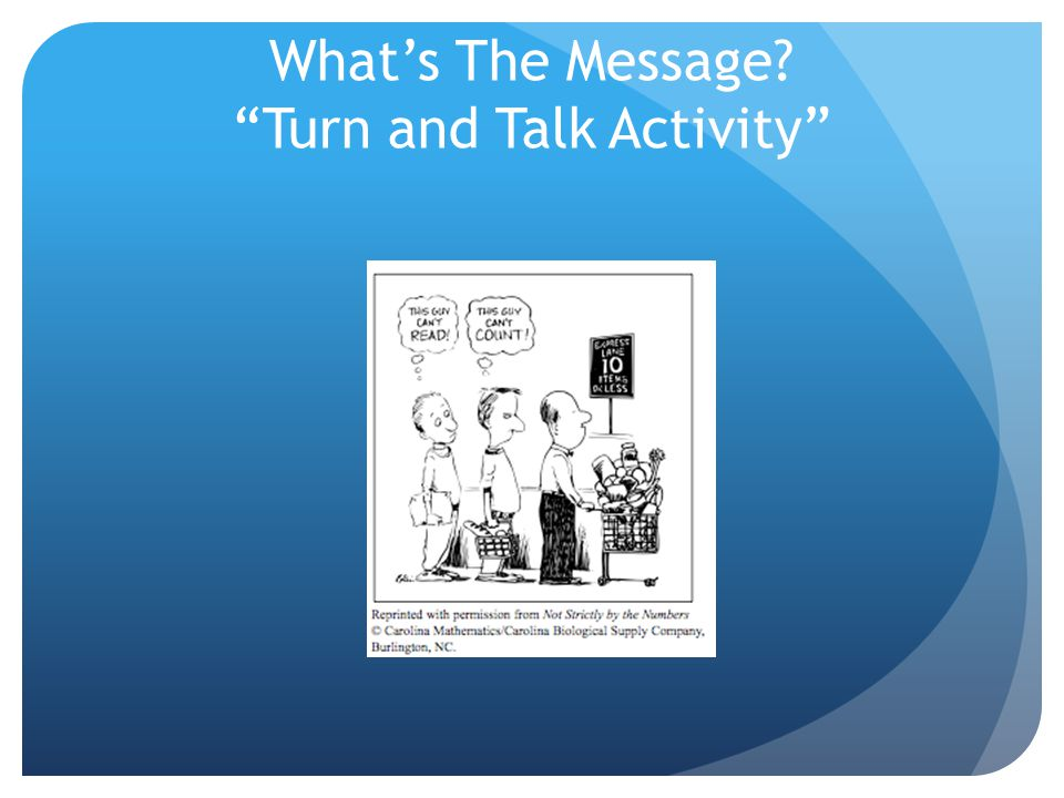 "What's The Message? ""Turn and Talk Activity"""