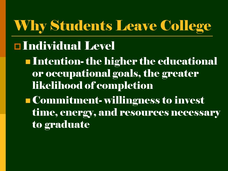 Overall College Initiatives (retention related) 1.