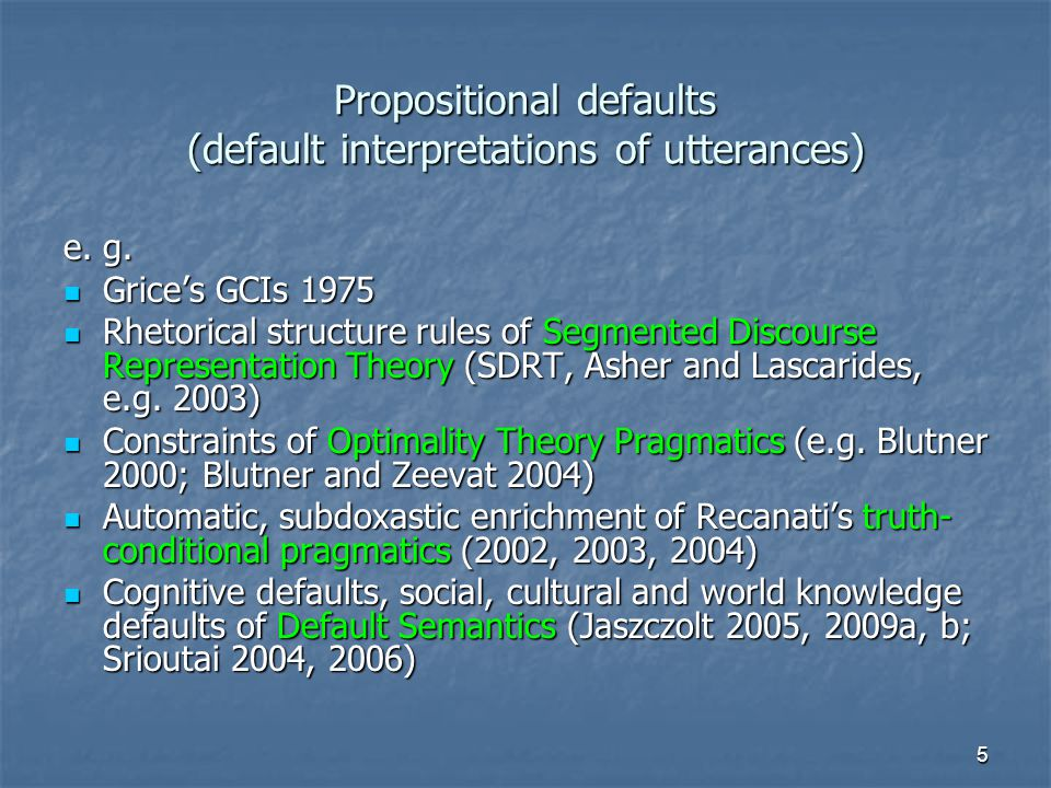 6 Defaults: A mixed bag.(1) Some ( → d not all) of her lectures are inspiring.