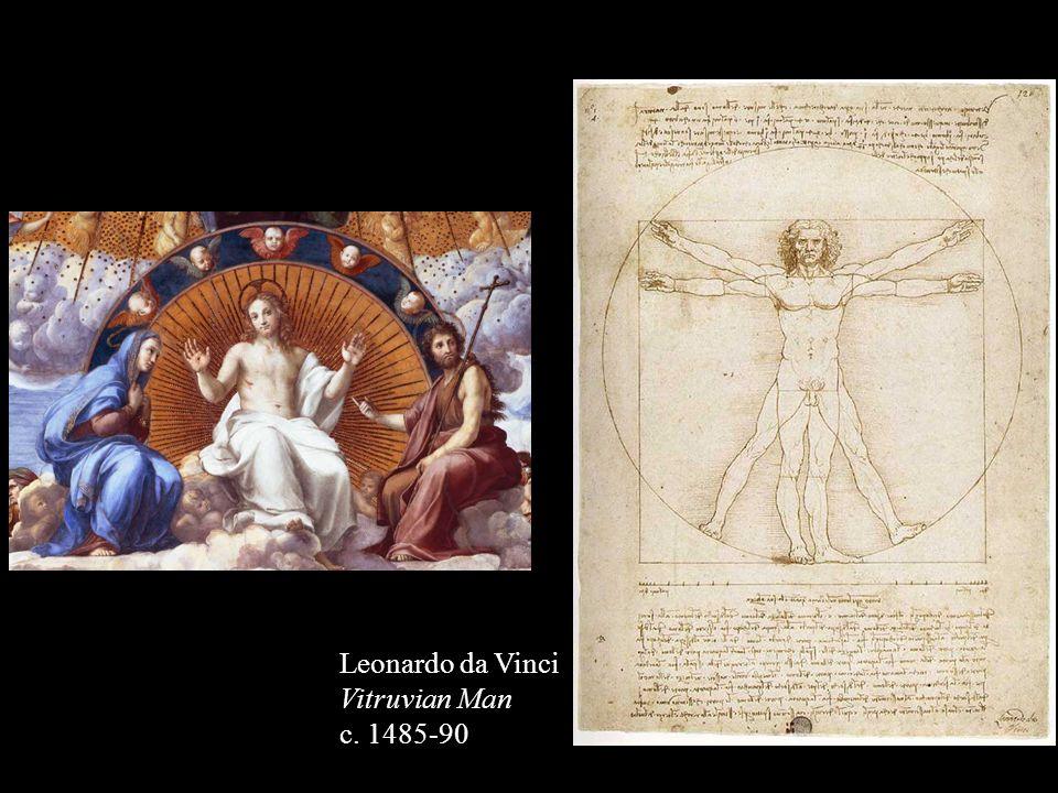 Leonardo da Vinci Vitruvian Man c. 1485-90