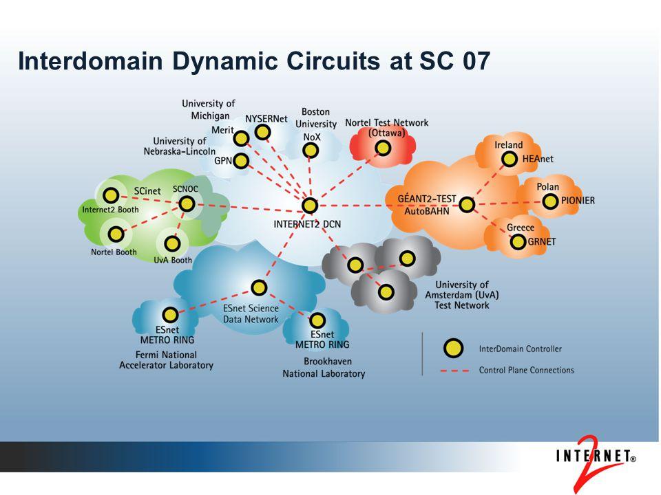 Interdomain Dynamic Circuits at SC 07
