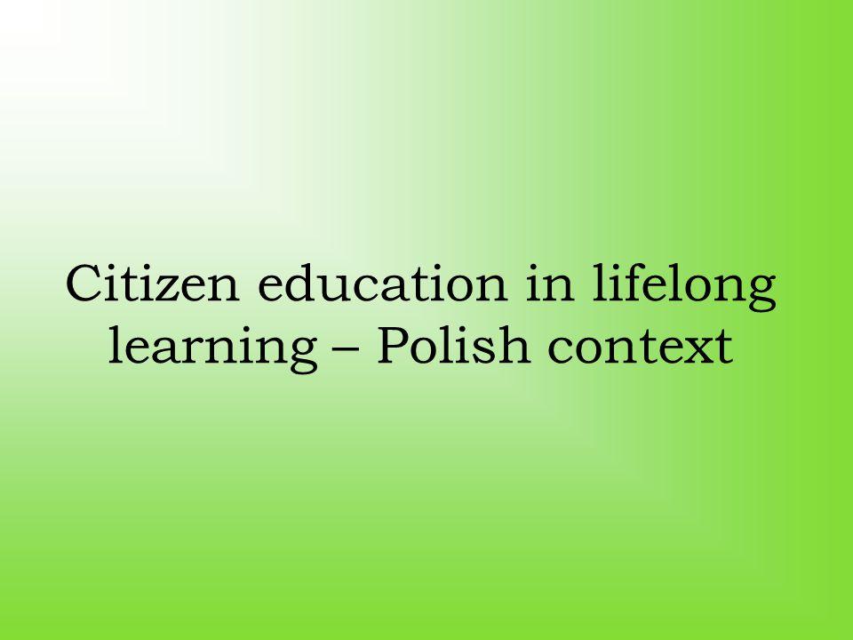 Citizen education in lifelong learning – Polish context