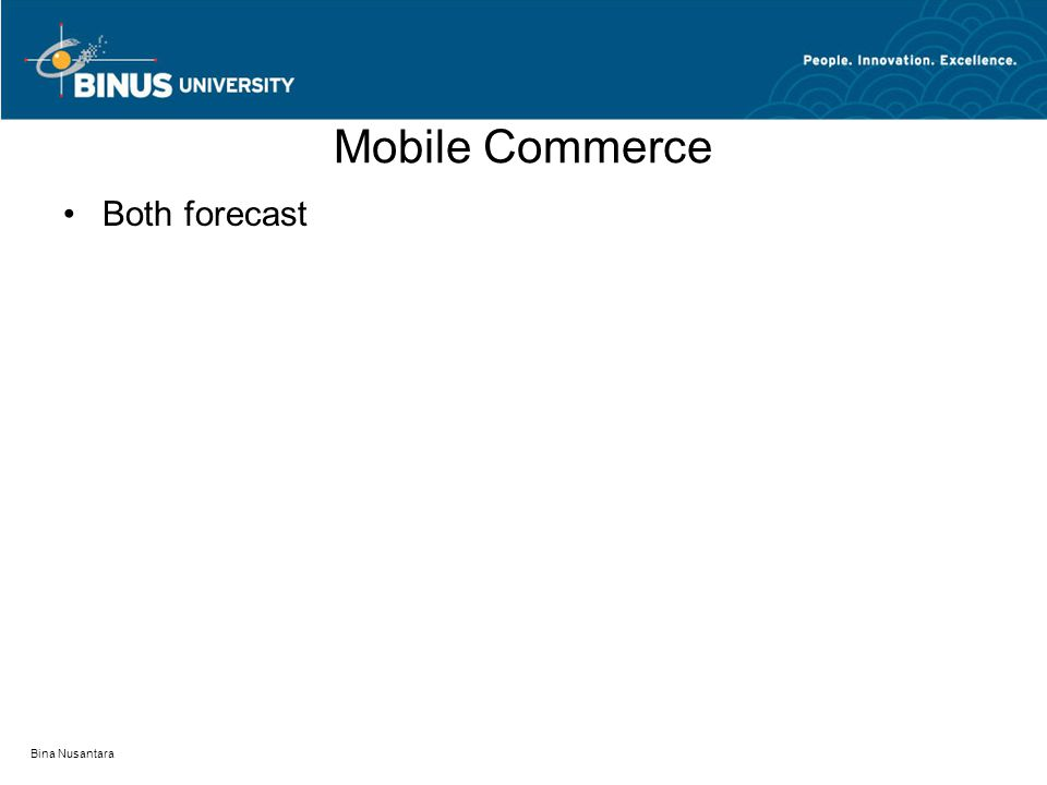 Bina Nusantara Mobile Commerce Both forecast