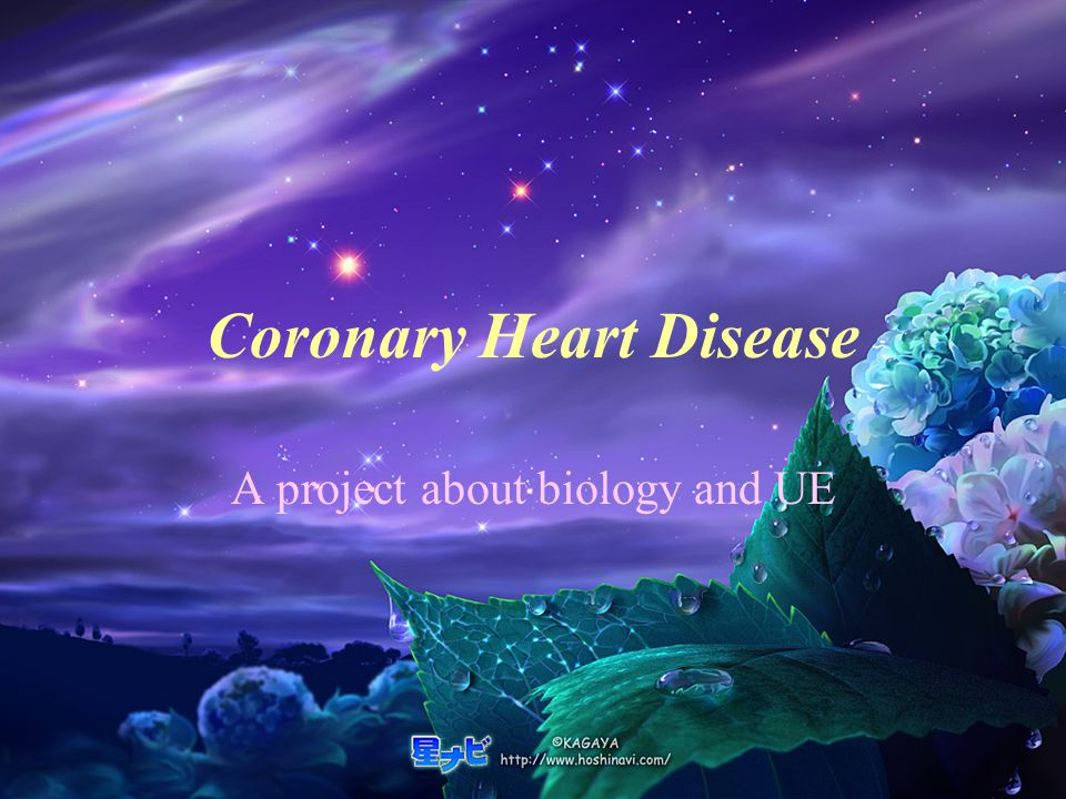 Coronary Heart Disease A project about biology and UE