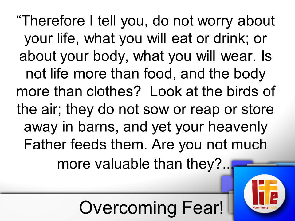 Can any one of you by worrying add a single hour to your life.
