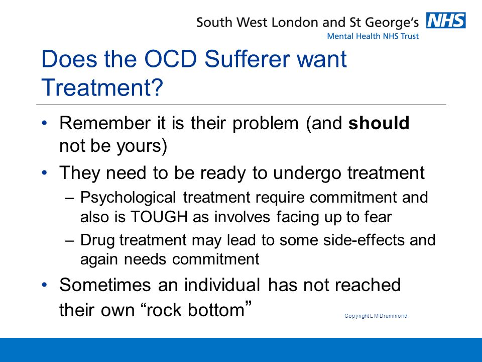 What can you do if your loved-one does not want treatment at this point??