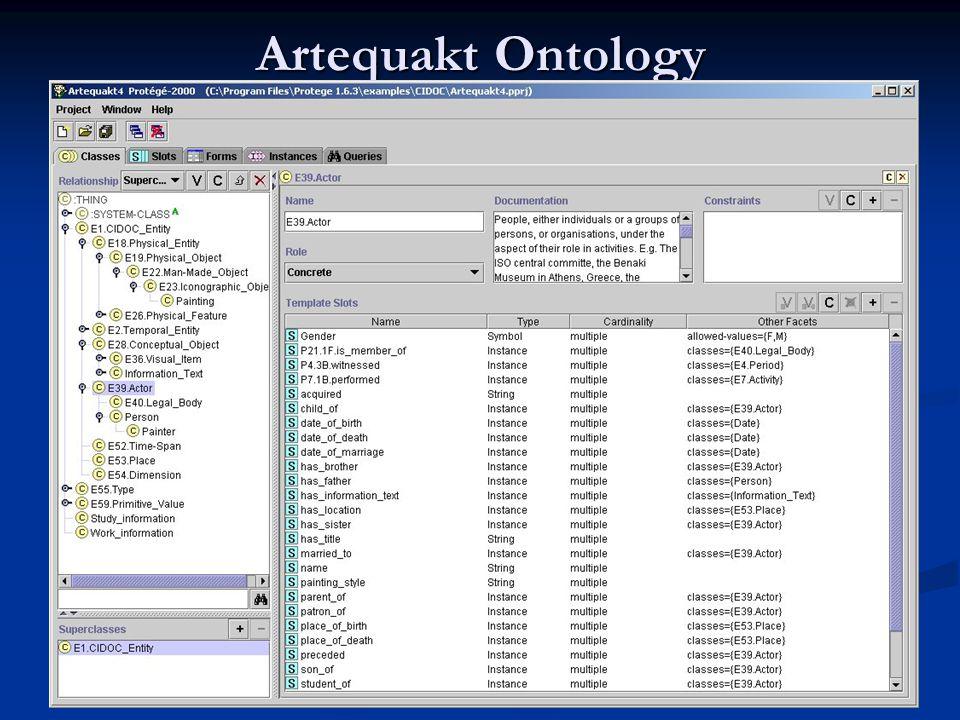 Artequakt Ontology