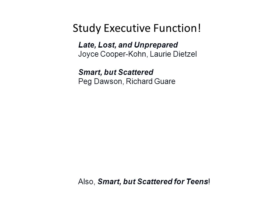 Study Executive Function.