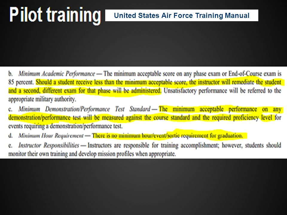 United States Air Force Training Manual