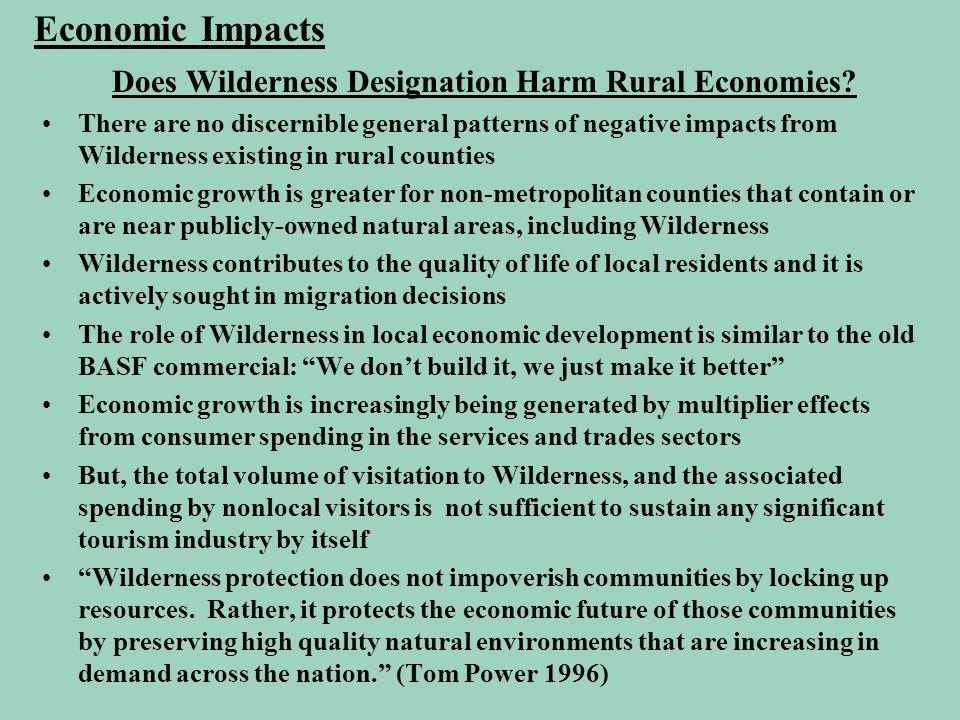 Does Wilderness Designation Harm Rural Economies.