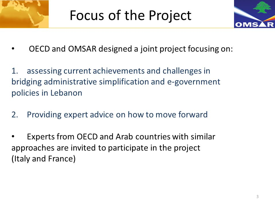 4 Project Goals 1.To take stock of the achievements and progress made by Lebanon 2.To provide Lebanese experts with first-hand practical experience from OECD countries 3.To produce proposals for action to Lebanese decision makers 4.To stimulate discussion and encourage mutual learning between Arab and OECD experts