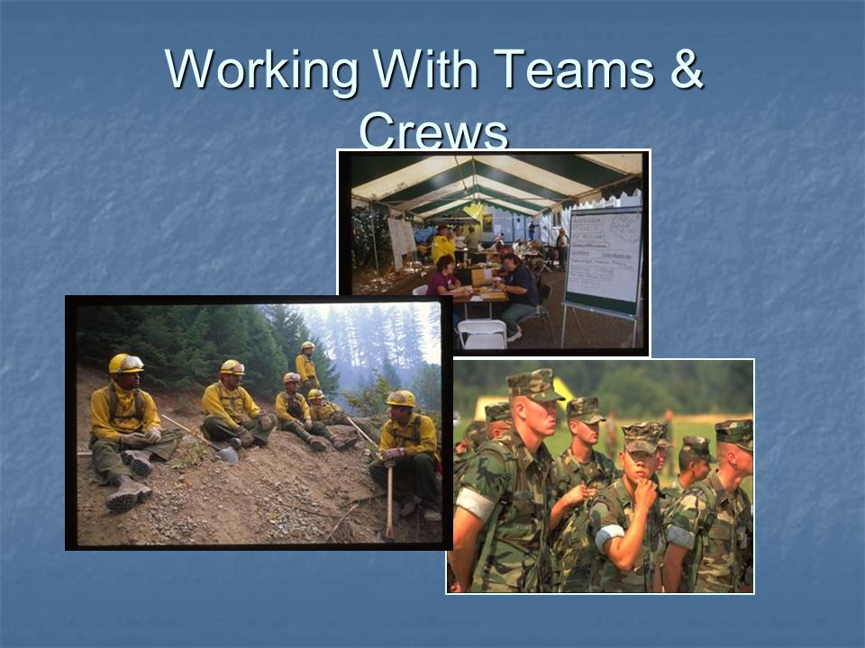 Working With Teams & Crews