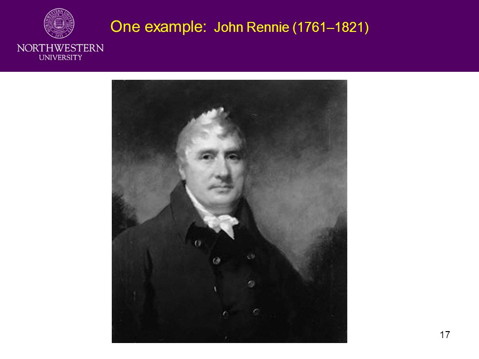 Fudan University Lecture217 One example: John Rennie (1761–1821)