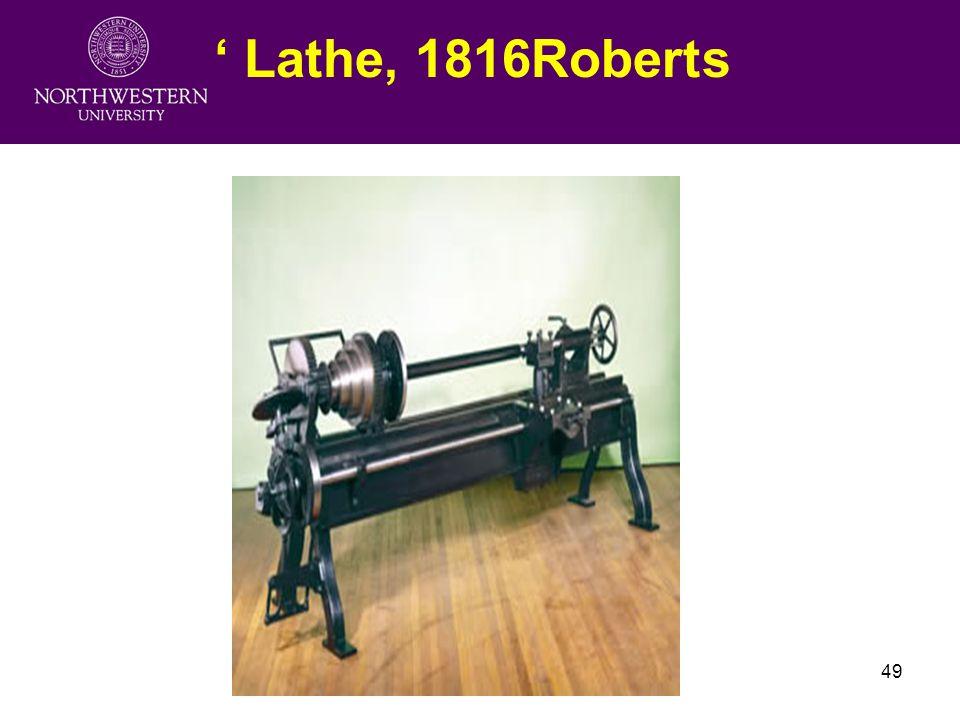 Fudan University Lecture249 ' Lathe, 1816Roberts
