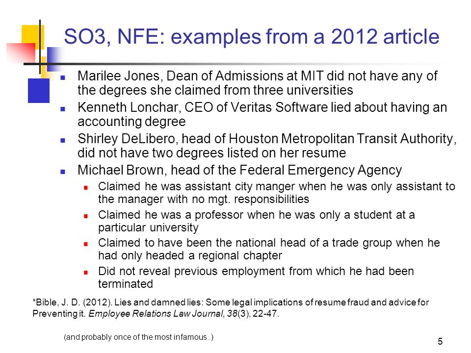 26 SO20(NFE): Defamation These type of law suits are becoming major issues for organizations There are now firms that individuals can hire who will call their former employers, posing as potential employers (google documented reference check ) https://references-etc.com You need to be very careful and make sure everyone else in the organization is careful too