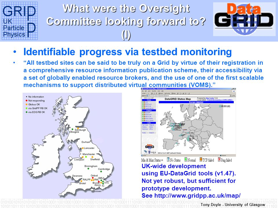 Tony Doyle - University of Glasgow Why were the Oversight Committee convinced.