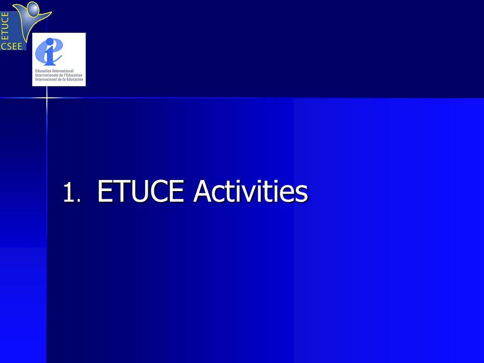1. ETUCE Activities