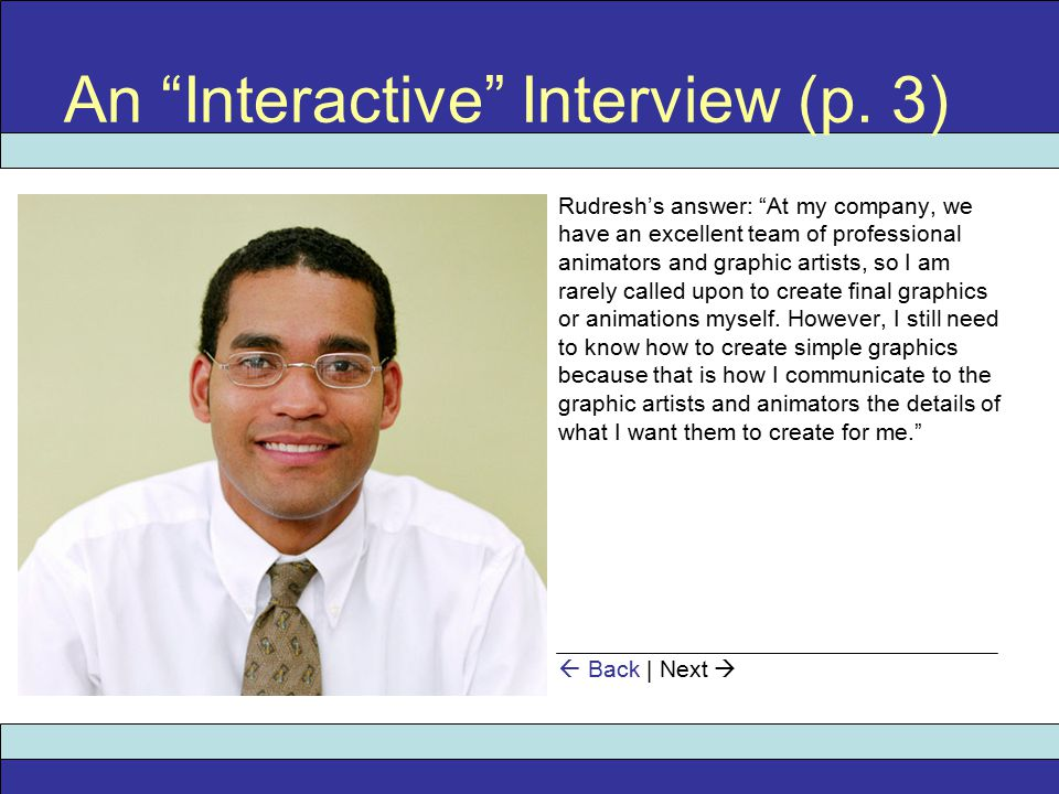 An Interactive Interview (p.