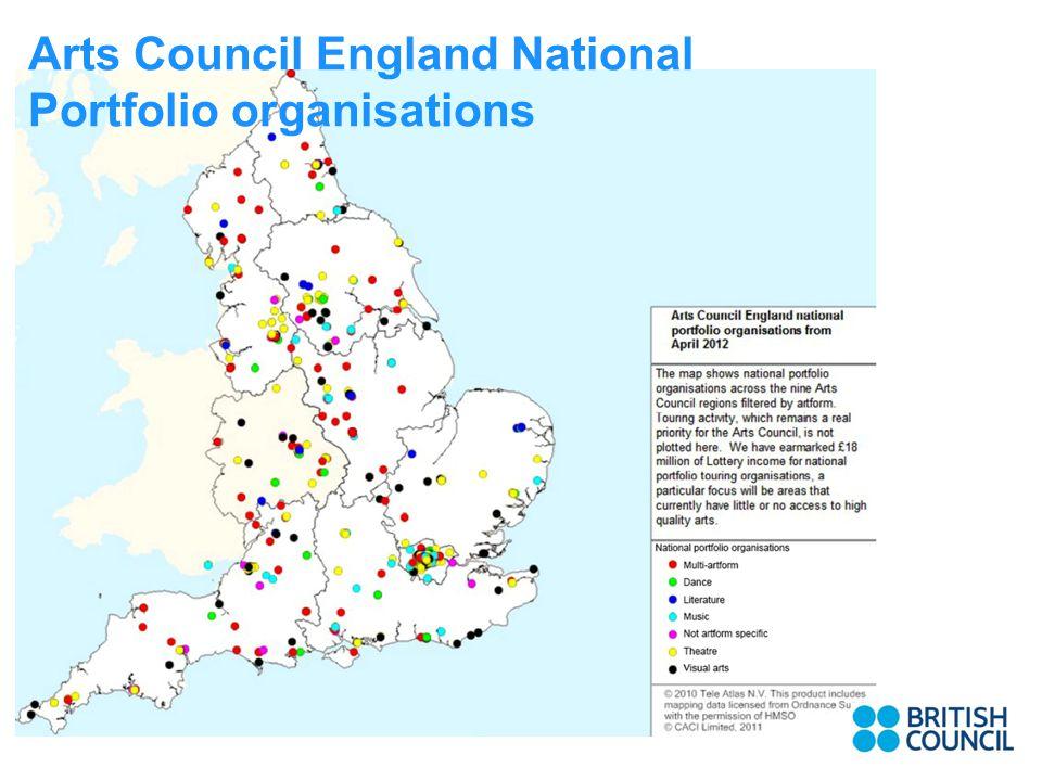 Arts Council England National Portfolio organisations